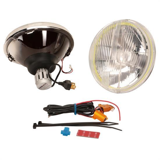 delta 01 115 ledh 7 inch led h4 hi lo halo headlights. Black Bedroom Furniture Sets. Home Design Ideas