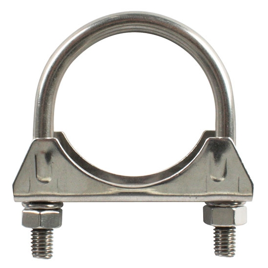 Stainless steel exhaust muffler tube clamps