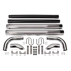 Patriot Exhaust H1060 Chrome Side Pipes w/Mufflers, 60 Inch, PR