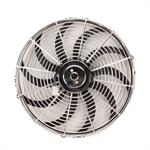 Speedway Chrome 14 Inch Curved Blade Electric Radiator Fan, Reversible