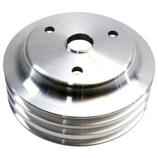 1969-1985 Small Block Chevy Aluminum Triple Lower Pulley, Long Pump