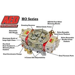 AED Performance 750HO-BK Double Pumper Carburetor, Black