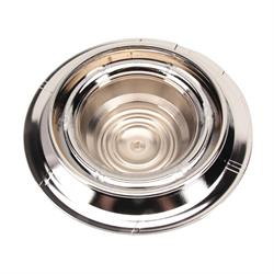Chrome Derby Shorty Rally Wheel Hub Caps, Set of 4