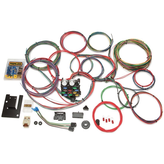 painless wiring 20107 1955 1957 chevy 21 circuit wiring harness