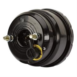 Speedway Dual Diaphragm Power Brake Booster, 7 Inch, Black Finish