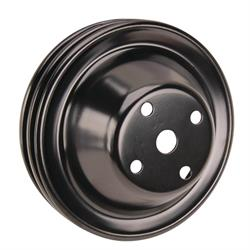 Double Groove S/B Chevy Long Water Pump Pulley, Black