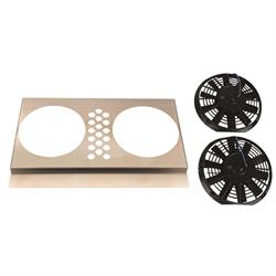 Electric Fan Shroud w/ Two Fans, 25 Inch Tank-to-Tank x 17-20 Inch