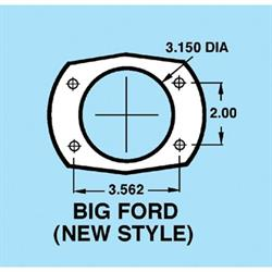 9 Inch Ford Housing with Metric Brackets, 58 Inch Hub-to-Hub Width