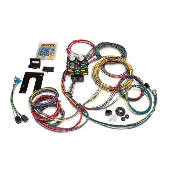 painless wiring 10201 gm 28 circuit wiring harness shipping painless wiring 50002 21 circuit pro street chassis wiring harness