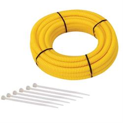 Split Wire Loom Conduit Tubing, 3/8 Inch Diameter, 12 Ft. Long