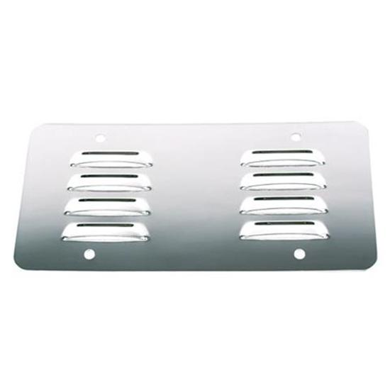 Louvered Stainless License Plate Back