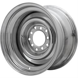 Speedway Smoothie Reverse 15x8 Chrome Steel Wheel, 5 on 5/5.5, 2.5 BS