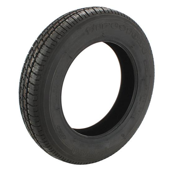 Coker 56047 Firestone F560 Blackwall Radial Tire-155R15, 4-5.5 In. Rim