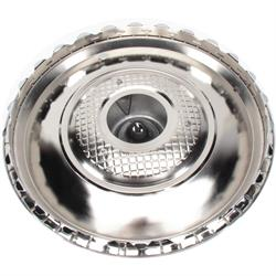 15 Inch Nomad Hubcap Set/4, Chrome, Stainless Steel