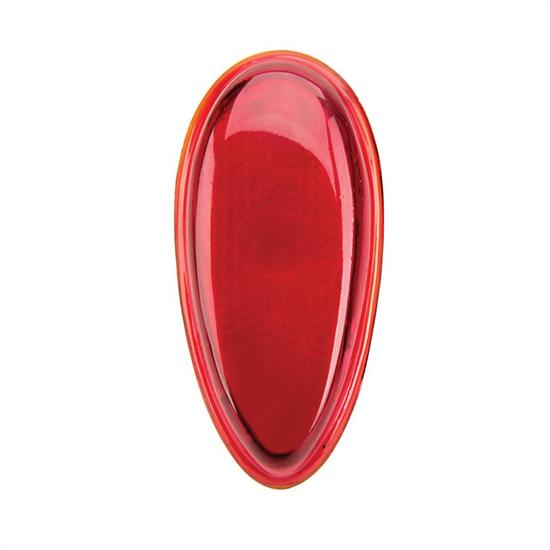 1938-1939 Ford Red Glass Tail Light Lens, Passenger Cars