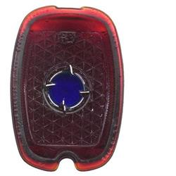 1937-1938 Chevy Blue Dot Tail Light Lens, Passenger Car