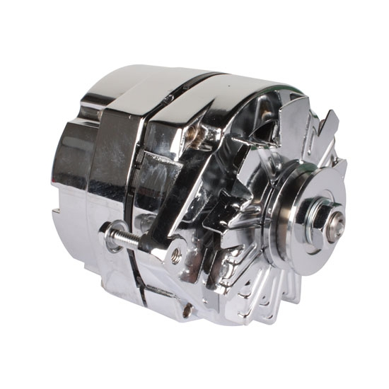 King Chrome GM One Wire Alternator, 65 Amp