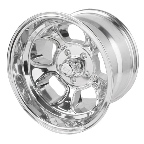 Team III Wheels ET Five Window Wheel-Pol-15x10-5 on 4.5-4 In. Backspce
