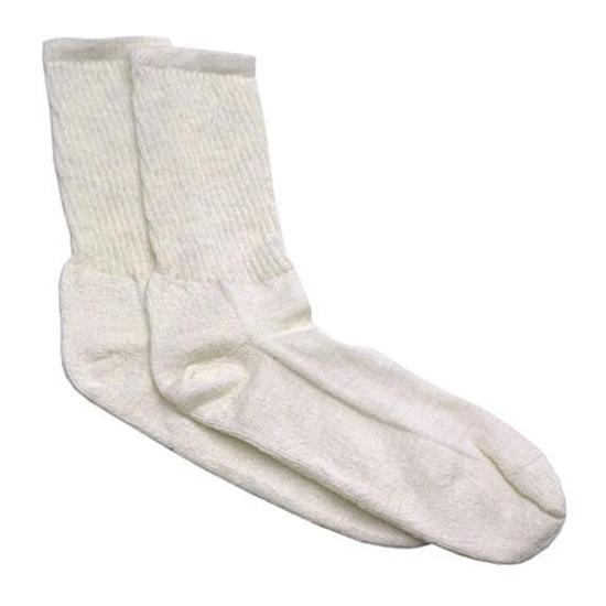 Speedway Nomex Fire Retardant Socks, White, Pair