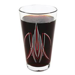 Pinstriped Pint Glasses