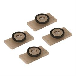 Mag Daddy 3/8 Inch Grand Glue Daddy Panel Magnet Fastener, 4-Pack
