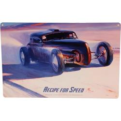 Tom Fritz Recipe For Speed Tin Sign, 18 x 12 Inch
