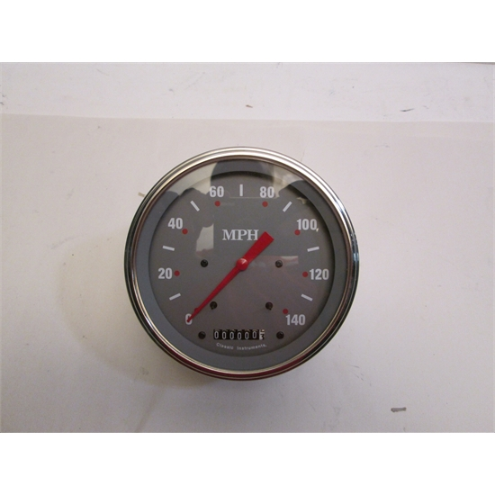 "Garage Sale - Classic Instruments 5"" Silver/Grey Series 140 MPH Speedometer"