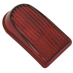 1949-1950 Chevy Tail Light Lens, Red Glass