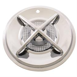 Chrome 15 Inch Spinner Style Cross-Bar Hubcaps, Set of 4