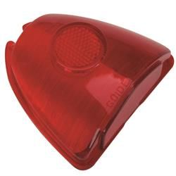 1953 Chevy Stop and Tail Light Lens, Red Plastic
