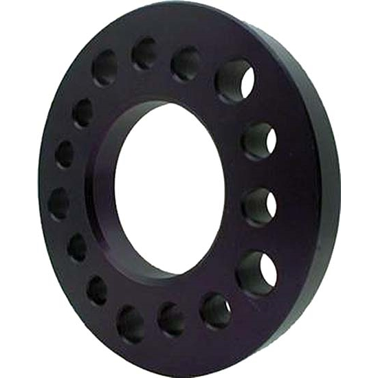 Aluminum Wheel Spacer, 3/8 Inch Thick, Black Anodized