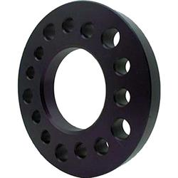 Aluminum Wheel Spacer, 1/2 Inch Thick, Black Anodized