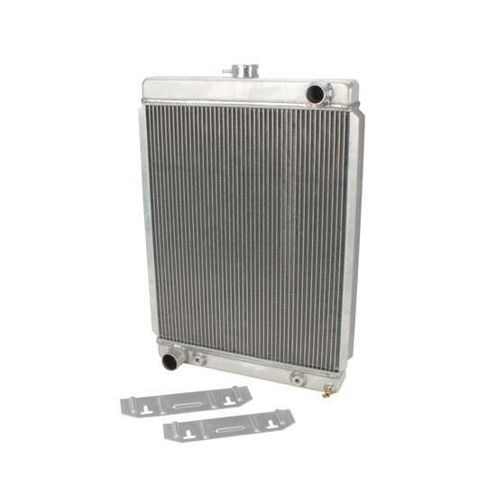 Universal Aluminum Radiator - 27 Inch Tall, Driver Side Outlet
