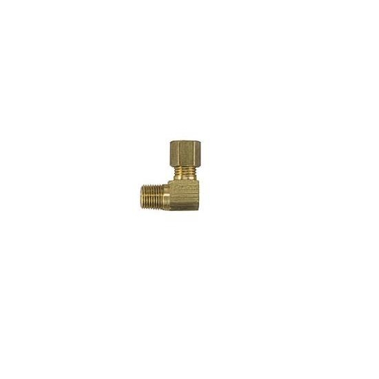 Brass compression fitting tube to npt degree