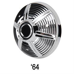 Pedal Car Parts, 1969 AMF Mustang Chromed Plastic, Spoke Style Hubcap