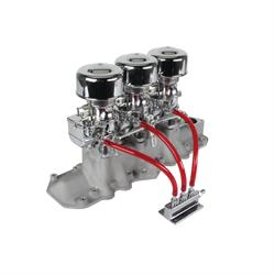 Chrome 9 Super 7® 3x2 Carb/Intake Manifold Kit, 1932-41 Flathead