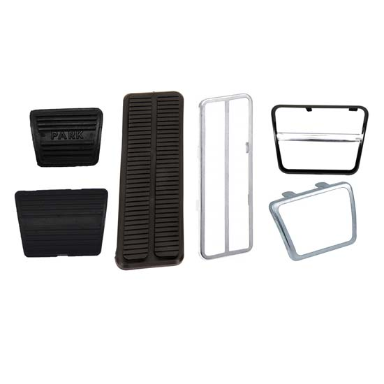 1967-1968 Camaro Accelerator & Brake Pedal Pad/Trim Kit, Manual Trans