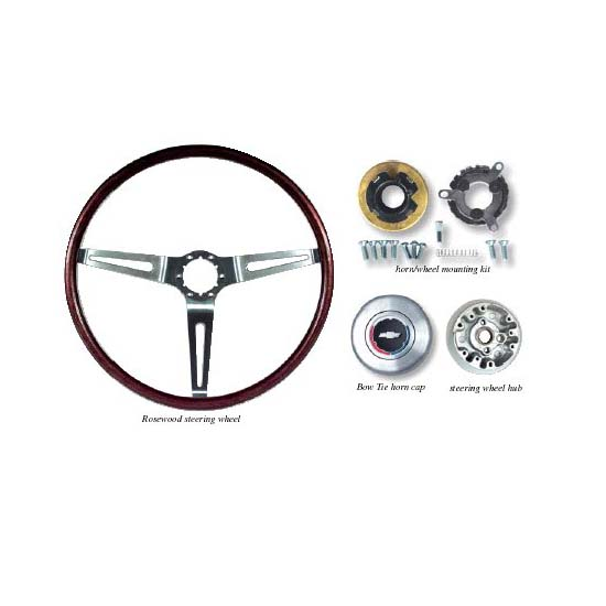 steering wheel kit with tilt  buttons  and hardware  1969