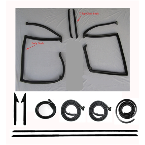 Complete Weather Stripping Kit for 1982-92 Camaro/Firebird w/T-Tops