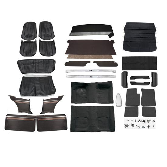 complete interior kit 69 70 nova w ac bucket seats woodgrain panels. Black Bedroom Furniture Sets. Home Design Ideas