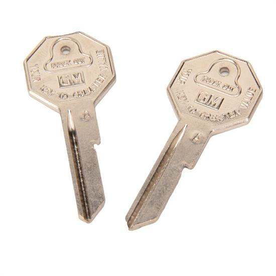 Classic Auto Locks CL-1000 67 Chevrolet Original Shape Key, Octagon