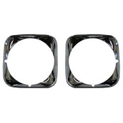 Golden Star HL03-71P Headlamp Bezels, LH/RH, 1971 Chevelle, Pair