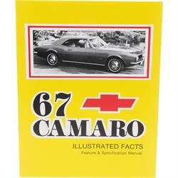 Jim Osborn MP0028 1967 Camaro Illustrated Facts Book