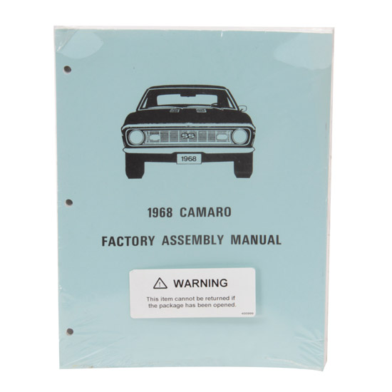 Jim Osborn MP0073 Assembly Manual, 1968 Camaro