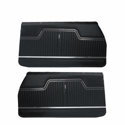 PUI PD240 1970-1972 Chevelle Standard Front Door Panels, Black