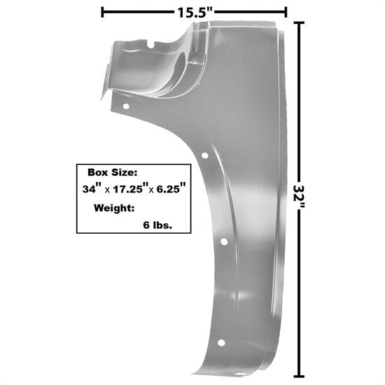 Dynacorn 1106DAWT Cowl Outer Lower Panel, LH, 1947-54 Chevy Pickup