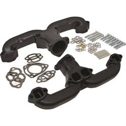 Smoothie Rams Horn Exhaust Manifolds, Small Block Chevy, Black