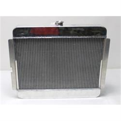 Garage Sale - AFCO 24 X 21 Inch Vertical Custom Radiator, Polished with Trans Cooler