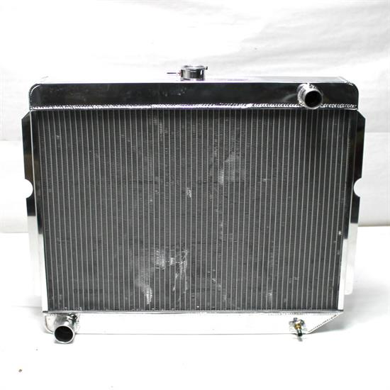 Garage Sale - AFCO DirectFit '60-'78 Mopar A,B,E-Body Radiator, 26X22, Pass Side Inlet, Polished
