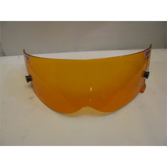 Garage Sale - Simpson Amber Shield, Fits Diamond Back, Bandit FR & Super Bandit Helmet